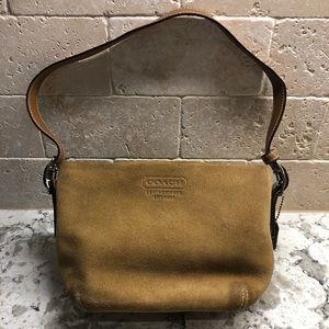 Vintage Suede Leather Coach Handbag